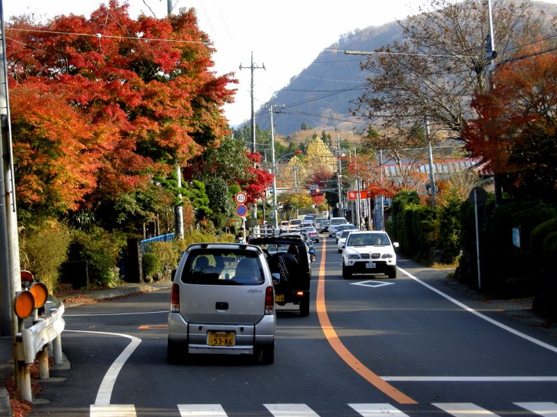 Traffic jam back to akone Yumoto