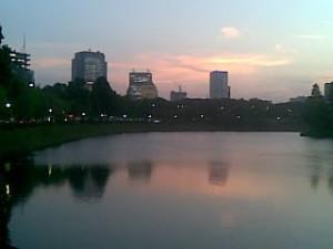 Sunset in Tokyo 18 Jul 08