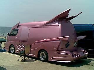Pink shaggin' wagon