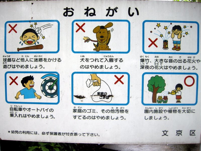 Prohibited park activities