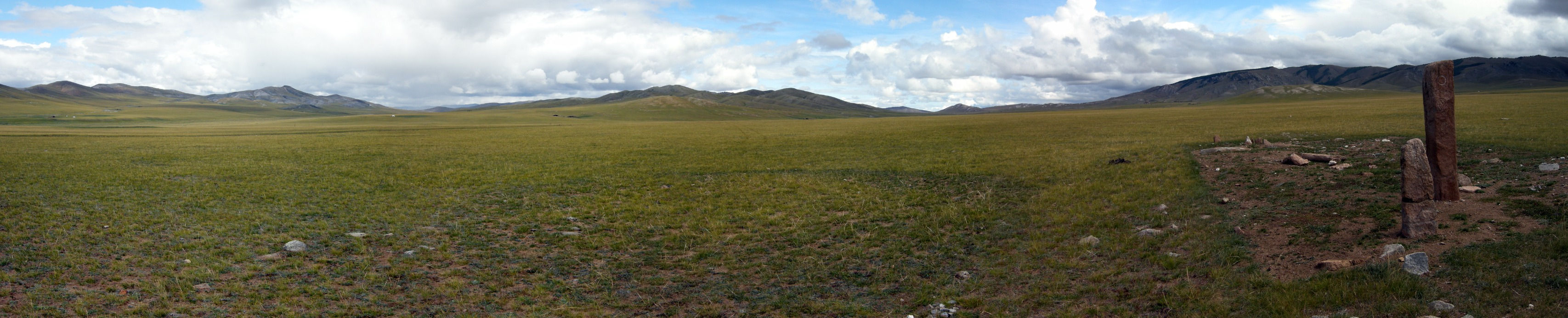 Deer stone and the steppe