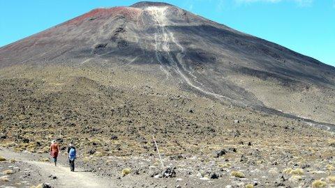 Beginning to climb Ngauruhoe
