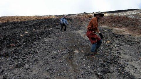 Sliding down Mt Ngauruhoe