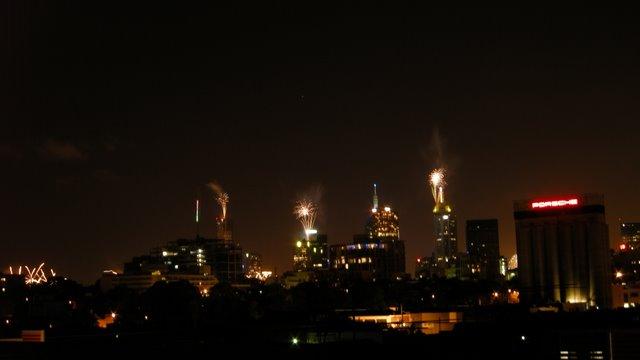 Melbourne NYE fireworks