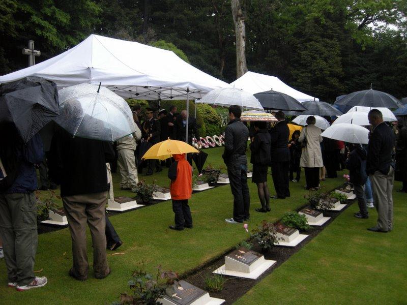 Anzac Day Service, Commonwealth War Cemetery, Hodogaya