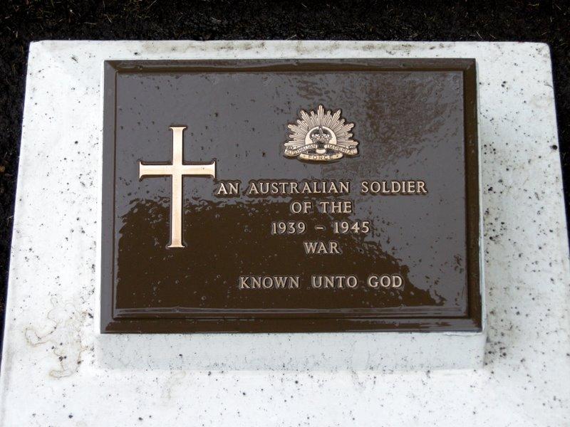 Unknown Australian Soldier, Commonwealth War Cemetery, Hodogaya